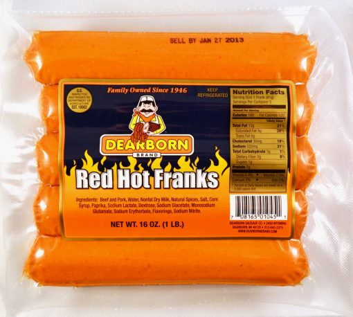 skinless red hot franks 5-to-1