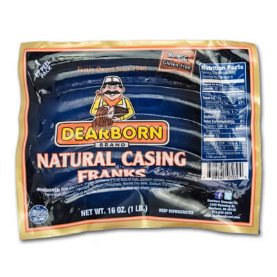 Natural Casing Franks - 1lb