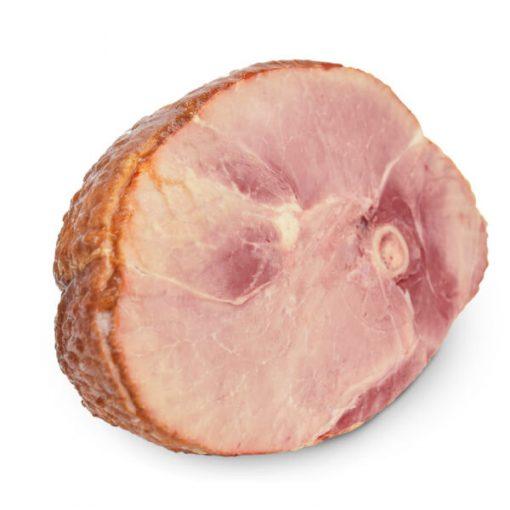 unglazed half ham