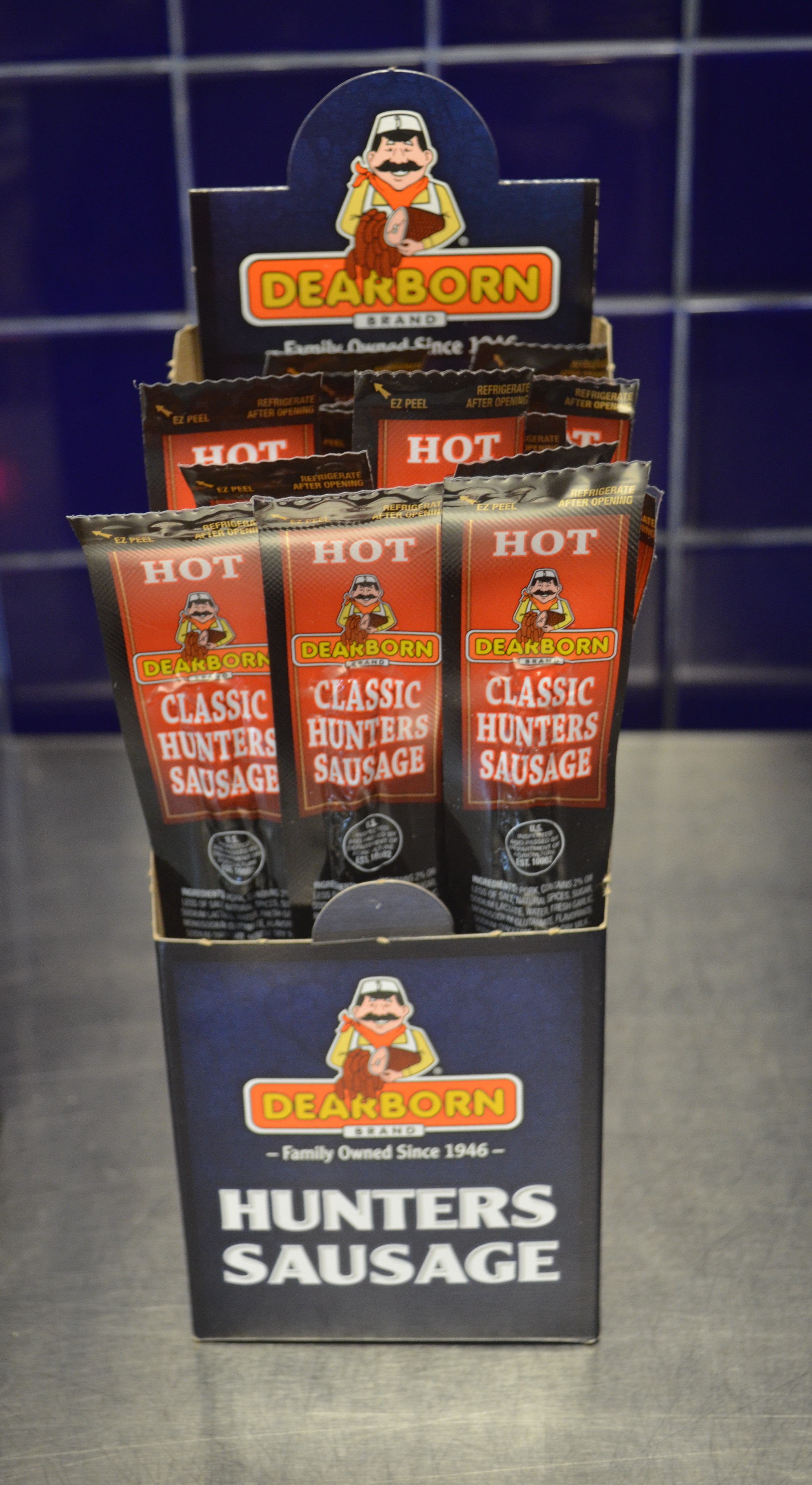 1oz Hot Classic Hunter Sausages